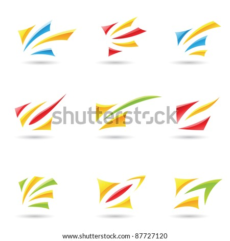 Eps Vector illustration of geometrical abstract shapes - stock vector