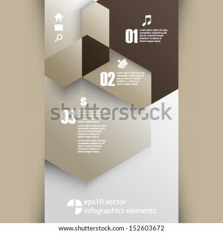 eps10 vector infographics background - stock vector