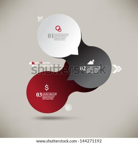 eps10 vector infographics elements background - stock vector
