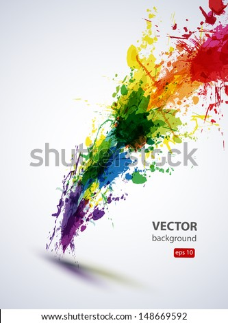 EPS10 vector ink abstract background - stock vector