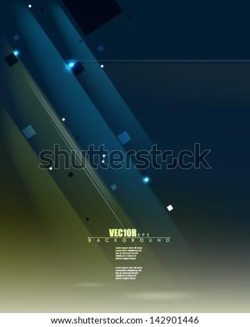 eps10 vector light rays graphic design - stock vector