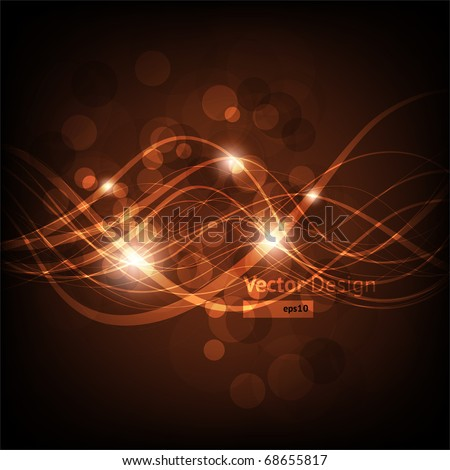 EPS10 vector line abstraction design against dark background