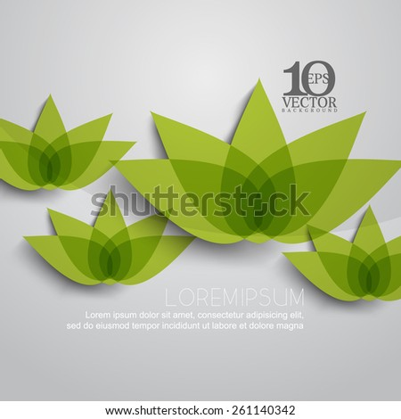 eps10 vector lotus flower plant nature silhouette transparent background design - stock vector