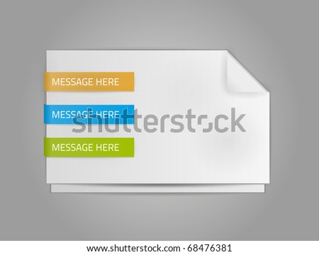 EPS10 vector message with labels for your design - stock vector