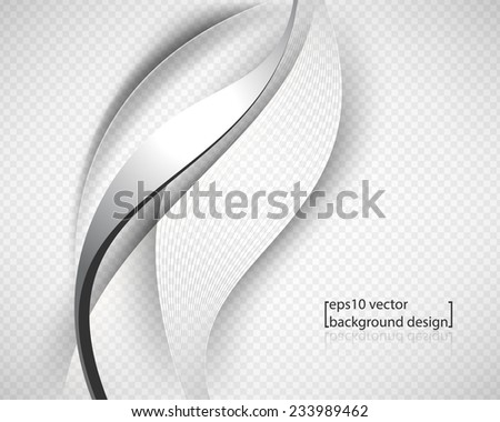 eps10 vector metallic chrome wave with strings and checkered business background - stock vector