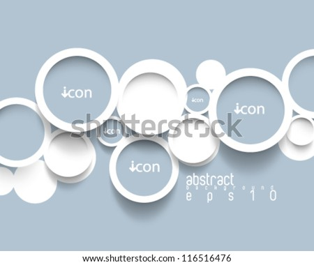 eps10 vector minimalistic circles concept background - stock vector