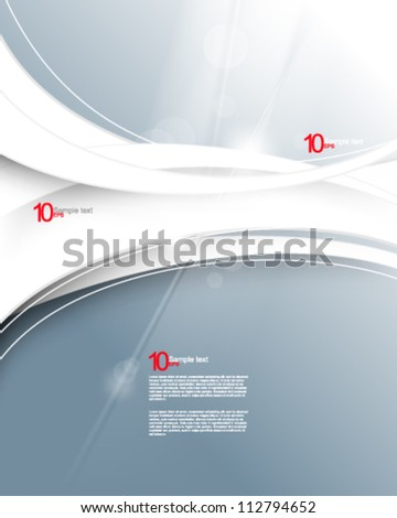 eps10 vector modern chrome concept wave illustration - stock vector