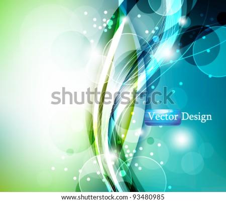 Eps10 Vector Modern Elegant Sparkling Background Design - stock vector