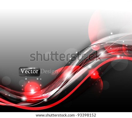 Eps10 Vector Modern Futuristic Red Business Concept Design