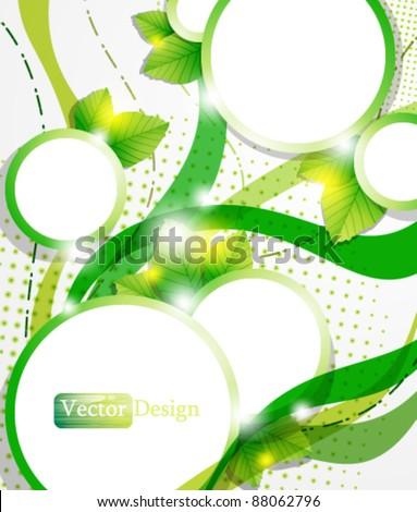 Eps10 Vector Modern Nature Concept Design - stock vector