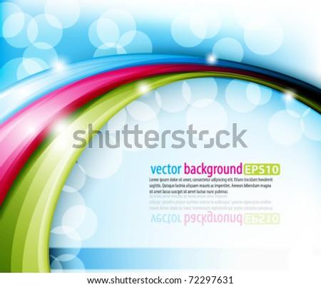eps10 vector multicolor abstract design - stock vector