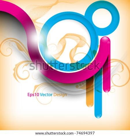 eps10 vector multicolor abstract foliage design - stock vector