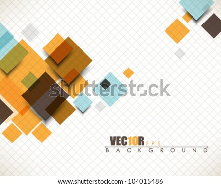 eps10 vector multicolor abstract square design - stock vector