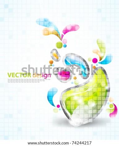 eps10 vector multicolor design - stock vector