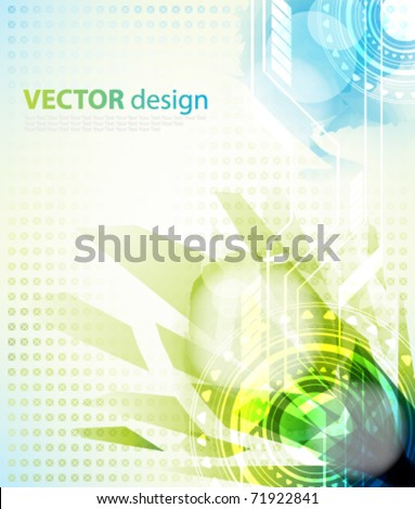 eps10 vector multicolor futuristic design - stock vector