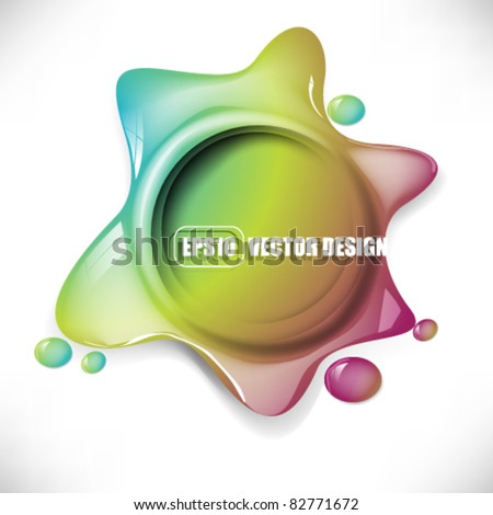 eps10 vector multicolor icon splatter design - stock vector