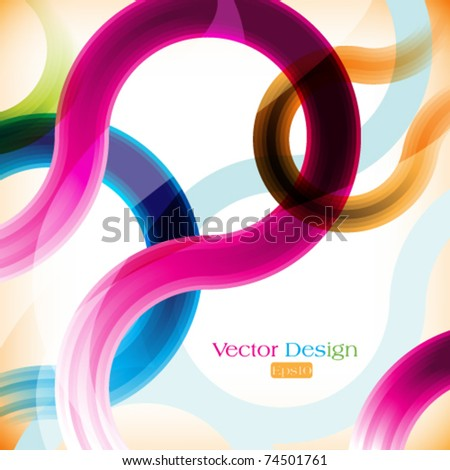 eps10 vector multicolor line curves abstract background - stock vector