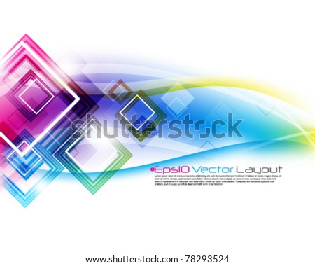 eps10 vector multicolor square background - stock vector