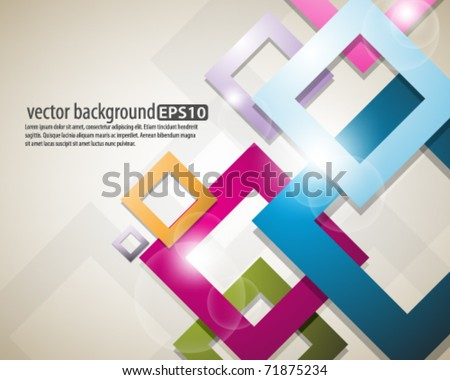 eps10 vector multicolor square design - stock vector