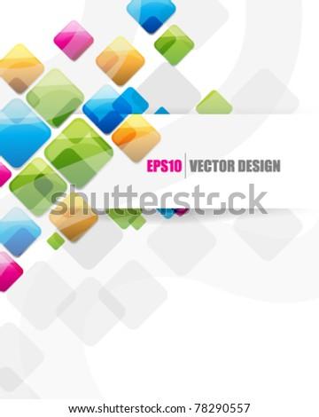 eps10 vector multicolor square shape design - stock vector