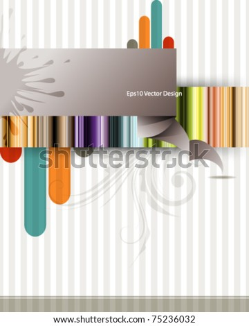 eps10 vector multicolor vintage design - stock vector