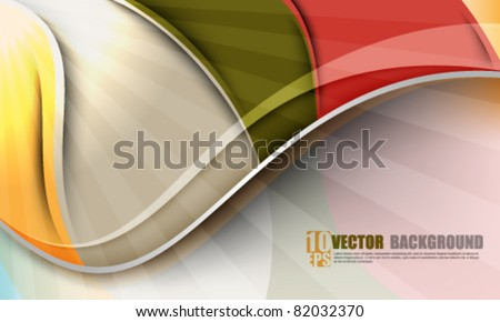 eps10 vector multicolor waves background design - stock vector