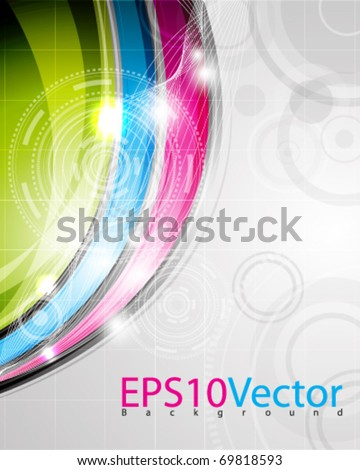 eps10 vector multicolored background with space for text and images