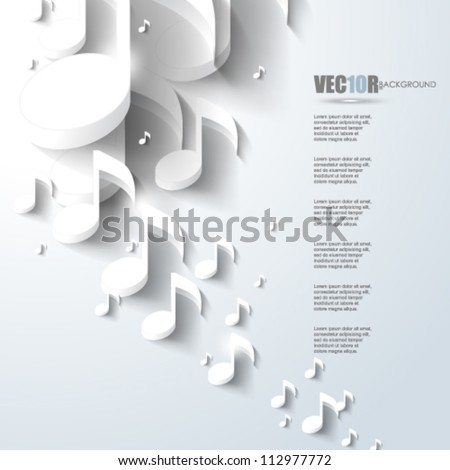 eps10 vector music note background design - stock vector