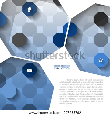 eps10 vector octagon pattern texture illustration
