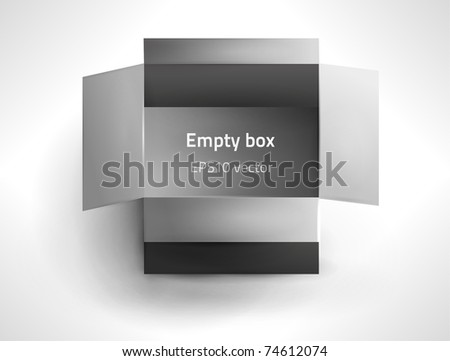 EPS10 vector opened box