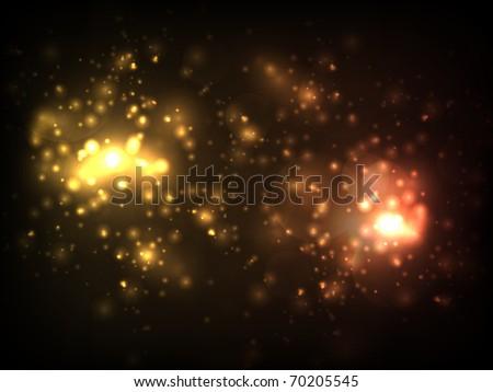 EPS10 vector orange blur design against dark background - stock vector