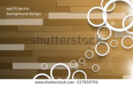 eps10 vector overlapping rings on wood floor background - stock vector