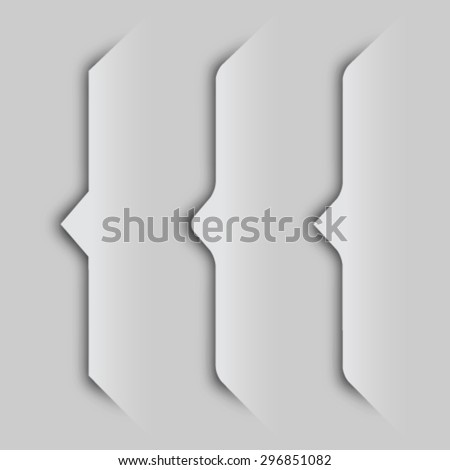 EPS10 vector paper cutout curly bracket shadows - stock vector