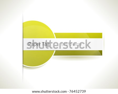EPS10 vector paper tag - stock vector