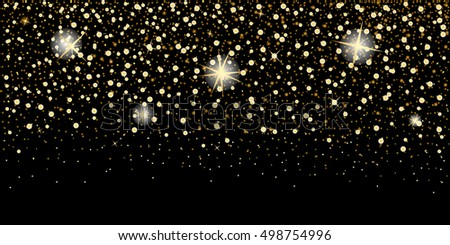 eps 10 vector premium golden glitter background. Luxurious greeting card, wedding invitation, calendar cover, banner, poster, brochure,leaflet,booklet,magazine cover, wallpaper template for web, print