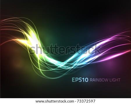 EPS10 vector rainbow background - stock vector