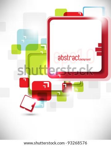 eps10 vector random square frame background illustration - stock vector