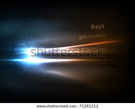 EPS10 vector rays - stock vector