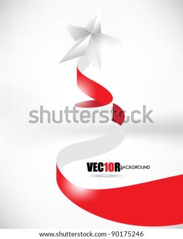 eps10 vector ribbon element Christmas design - stock vector