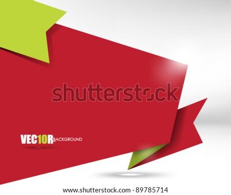 eps10 vector ribbon frame concept design - stock vector