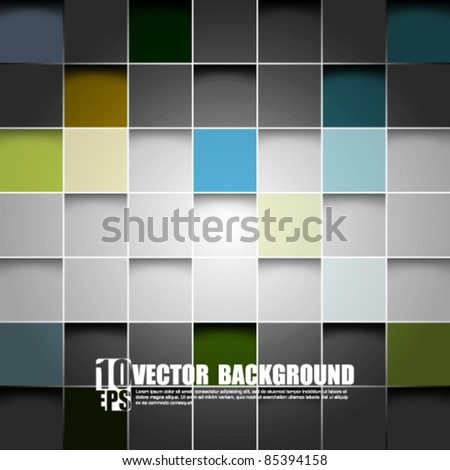 eps10 vector seamless blocks structure background - stock vector