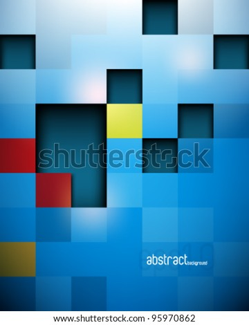 eps10 vector seamless glossy futuristic blocks structure background - stock vector