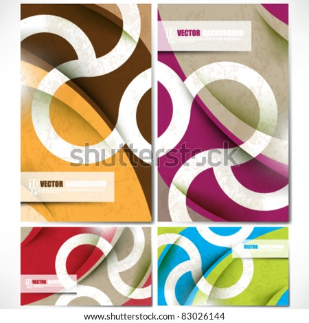 eps10 vector set of colorful unique backgrounds - stock vector