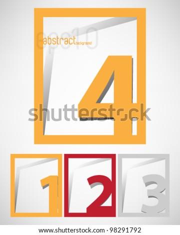 eps10 vector set of four rectangular frame background - stock vector