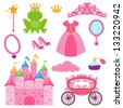 EPS10 Vector Set of Princess and Fairy Items - stock vector