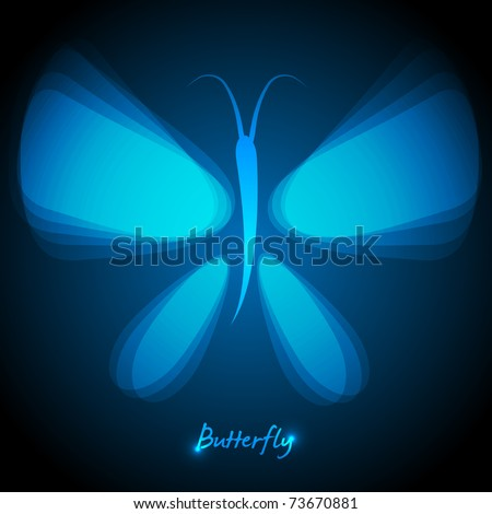 EPS10 Vector Shiny Butterfly - stock vector