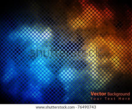 EPS10 vector shiny fantasy mosaic colorful background - stock vector