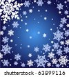 EPS10 vector Snowflakes on a dark blue background - stock vector