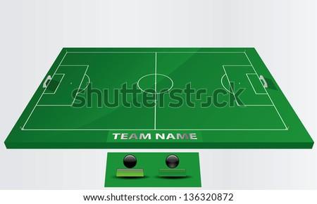 EPS Vector 10 - soccer field or football field - stock vector