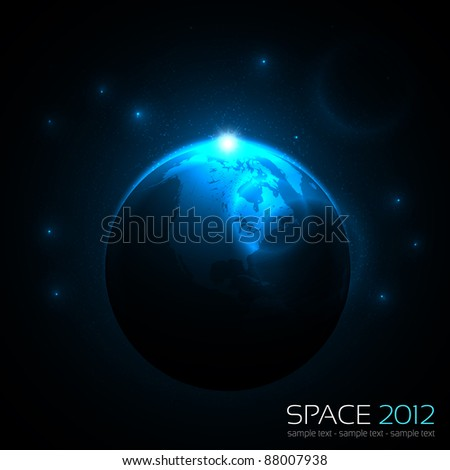 EPS10 Vector Space Background - stock vector
